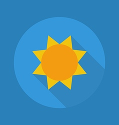 Weather Flat Icon Sunny vector image vector image