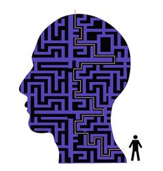 human head maze vector image