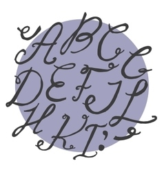 Ink alphabet a to i freehand funky based on vector