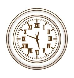 gray wall clock icon image vector image