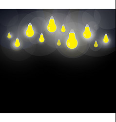 Light bulb on a dark background vector image