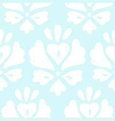 Beautiful white ornament on a blue background vector