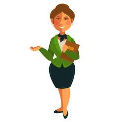 Teacher woman of school university profession vector