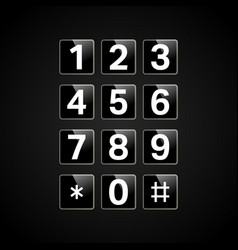 digital keypad with numbers vector image