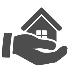 Realty offer hand icon vector