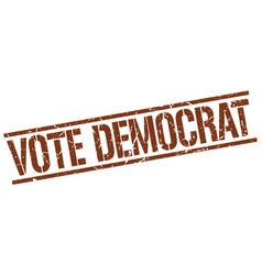 Vote democrat stamp vector