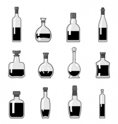 Bottle set vector