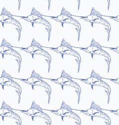 Swordfish seamless pattern vector