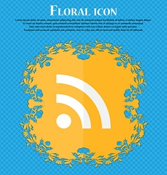 Wifi wi-fi wireless network floral flat design on vector