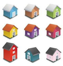 Tiny houses icon collection vector