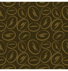 Background with closeup coffee beans vector