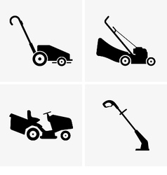 Lawn Mowers vector image