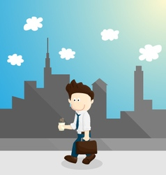 Chill time salary man cartoon lifestyle vector