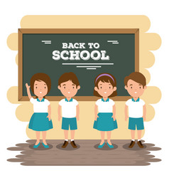 back to school concept classroom cartoon vector image