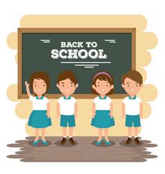 back to school concept classroom cartoon vector image vector image