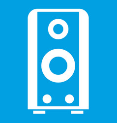 black sound speaker icon white vector image