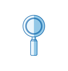 blue color shading silhouette magnifying glass vector image vector image