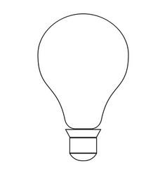Bulb the black color icon vector