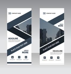 Business roll up banner flat design templates set vector