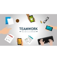Business teamwork deveploment vector