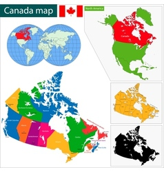 Colorful canada map vector