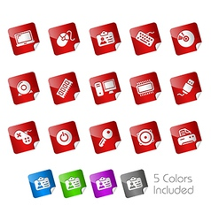 Computer Devices Stickers vector image vector image