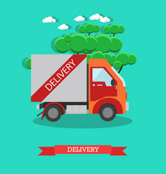 delivery service in flat style vector image