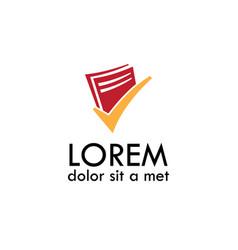 Document check office logo vector