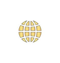 Earth computer symbol vector