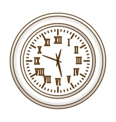 Gray wall clock icon image vector