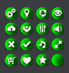 Green web icons collection 2 vector image vector image
