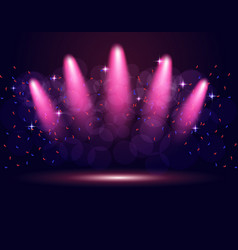 Lighting podium stage spotlights abstraction vector