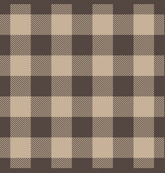 Lumberjack plaid pattern in beige color seamless vector