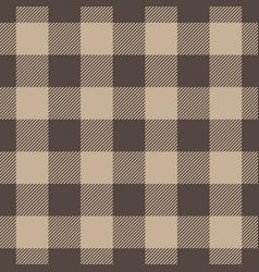 Lumberjack plaid pattern in beige color seamless vector