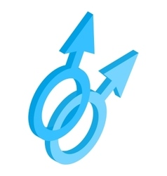 Male gay symbol isometric 3d icon vector image vector image