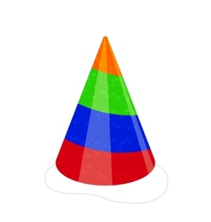 party hat isolated on white vector image