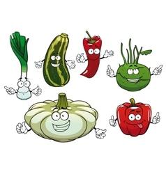 Pepper zucchini kohlrabi squash and onion vector