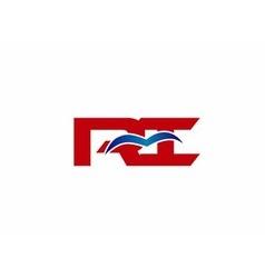 Ri company linked letter logo vector