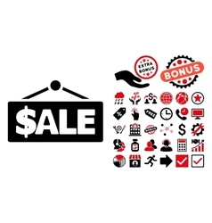 Sale Label Flat Icon with Bonus vector image