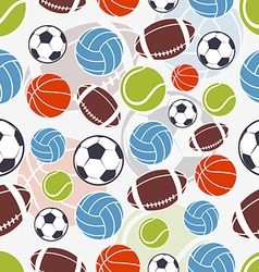 Seamless sports pattern vector image vector image