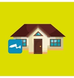 smart home with camera cctv isolated icon design vector image