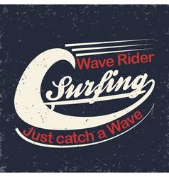 Surfers t-shirt print vector