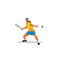 Tennis girl sign vector image vector image