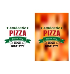 Two Pizza badges or labels vector image