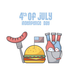 Usa indepence day design vector