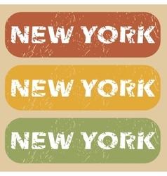 Vintage new york stamp set vector