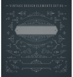 Vintage swirls ornaments decorations vector
