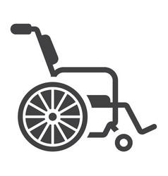 wheelchair glyph icon medicine and healthcare vector image vector image