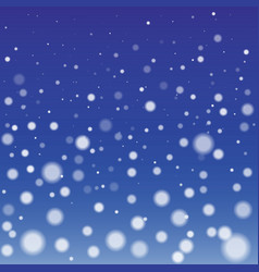 Winter snowfall background vector