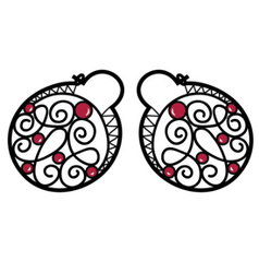 Wire wrapped beaded earrings vector